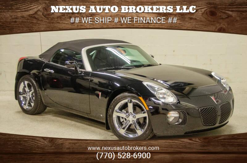 2009 Pontiac Solstice for sale at Nexus Auto Brokers LLC in Marietta GA