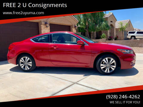 2012 Honda Accord for sale at FREE 2 U Consignments in Yuma AZ
