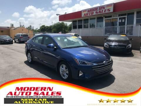 2020 Hyundai Elantra for sale at Modern Auto Sales in Hollywood FL