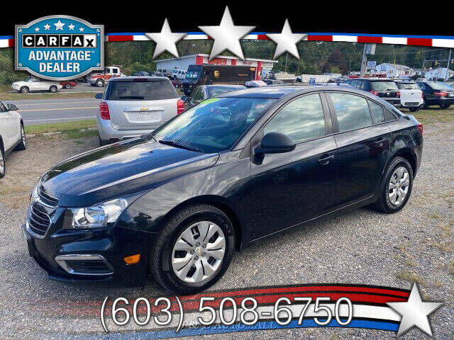 2015 Chevrolet Cruze for sale at J & E AUTOMALL in Pelham NH