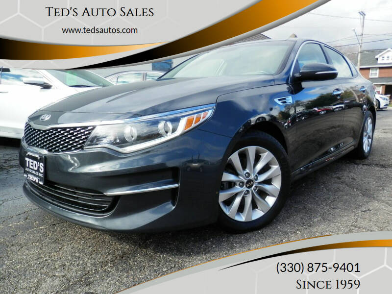 2016 Kia Optima for sale at Ted's Auto Sales in Louisville OH