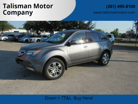 2008 Acura MDX for sale at Talisman Motor Company in Houston TX