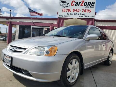 2002 Honda Civic for sale at CarZone in Marysville CA