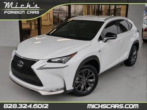 2017 Lexus NX 200t for sale at Mich's Foreign Cars in Hickory NC