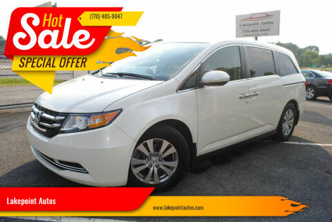 2016 Honda Odyssey for sale at Lakepoint Autos in Cartersville GA