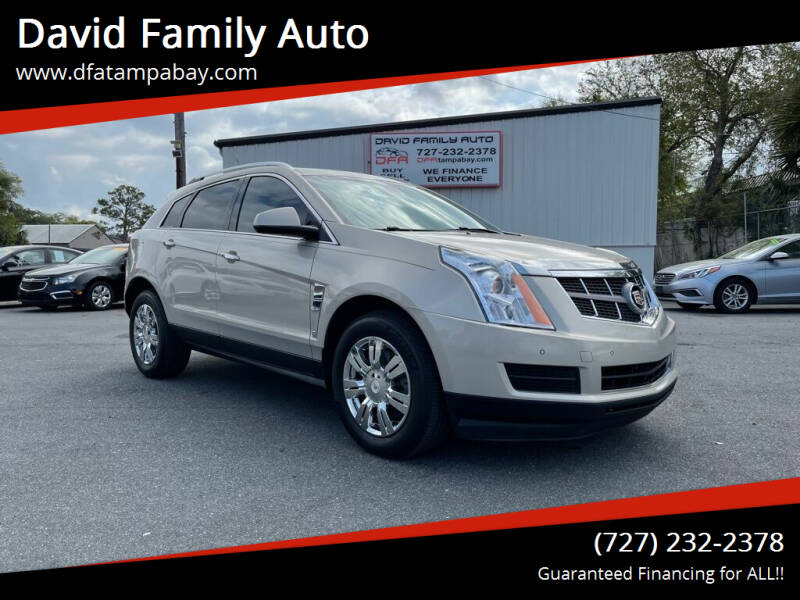 2012 Cadillac SRX for sale at David Family Auto in New Port Richey FL