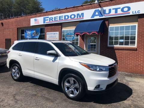 2015 Toyota Highlander for sale at FREEDOM AUTO LLC in Wilkesboro NC