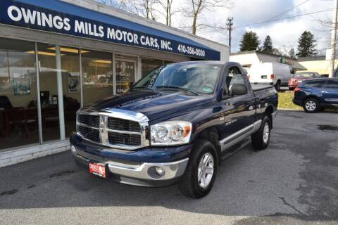 2007 Dodge Ram Pickup 1500 for sale at Owings Mills Motor Cars in Owings Mills MD