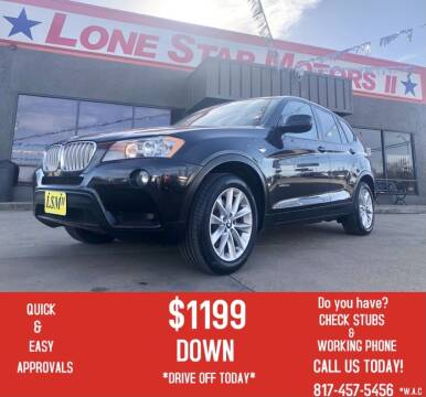 2013 BMW X3 for sale at LONE STAR MOTORS II in Fort Worth TX