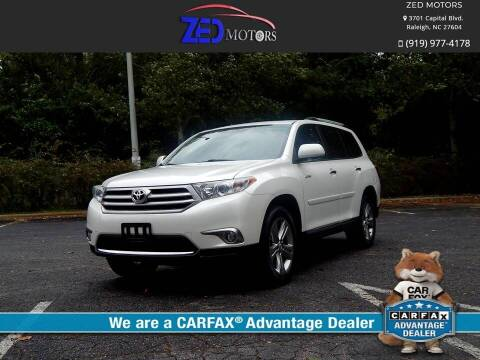 2011 Toyota Highlander for sale at Zed Motors in Raleigh NC