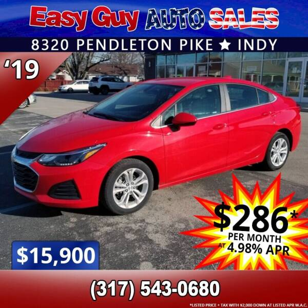 2019 Chevrolet Cruze for sale at Easy Guy Auto Sales in Indianapolis IN