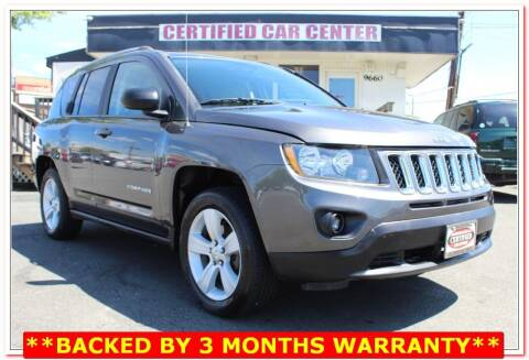 2017 Jeep Compass for sale at CERTIFIED CAR CENTER in Fairfax VA