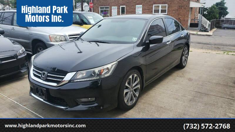 2015 Honda Accord for sale at Highland Park Motors Inc. in Highland Park NJ