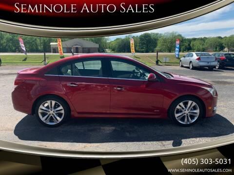 2012 Chevrolet Cruze for sale at Seminole Auto Sales in Seminole OK