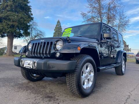2014 Jeep Wrangler Unlimited for sale at Pacific Auto LLC in Woodburn OR