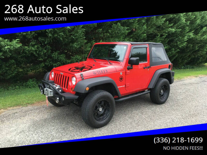 2009 Jeep Wrangler for sale at 268 Auto Sales in Dobson NC