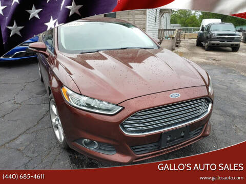 2016 Ford Fusion for sale at Gallo's Auto Sales in North Bloomfield OH
