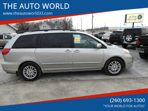 2007 Toyota Sienna for sale at THE AUTO WORLD in Churubusco IN