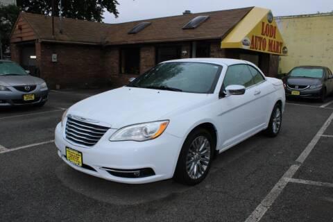 2013 Chrysler 200 Convertible for sale at Lodi Auto Mart in Lodi NJ