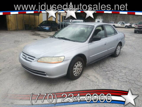 2002 Honda Accord for sale at J D USED AUTO SALES INC in Doraville GA