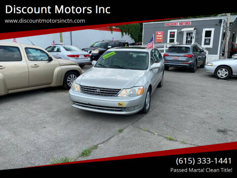 2003 Toyota Avalon for sale at Discount Motors Inc in Nashville TN