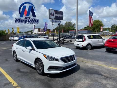 2016 Hyundai Sonata for sale at Auto Mayella in Miami FL