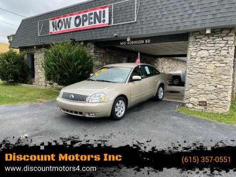 2005 Mercury Montego for sale at Discount Motors Inc in Old Hickory TN