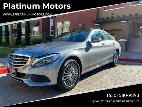 2015 Mercedes-Benz C-Class for sale at Platinum Motors in San Bruno CA