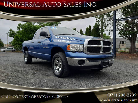 2005 Dodge Ram Pickup 1500 for sale at Universal Auto Sales Inc in Salem OR