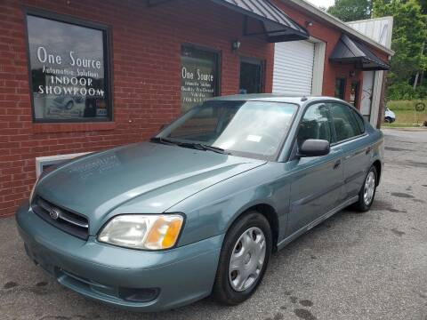 2002 Subaru Legacy for sale at One Source Automotive Solutions in Braselton GA