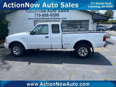 2002 Ford Ranger for sale at ACTION NOW AUTO SALES in Cumming GA