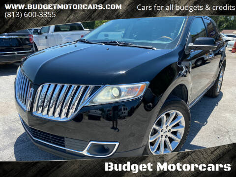 2012 Lincoln MKX for sale at Budget Motorcars in Tampa FL