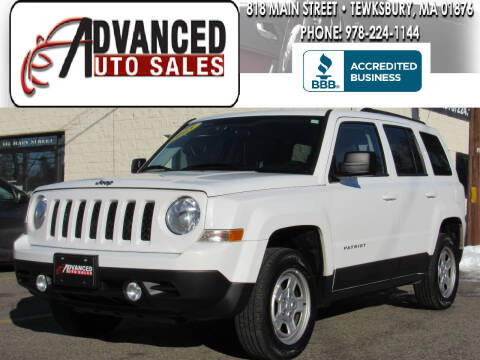2015 Jeep Patriot for sale at Advanced Auto Sales in Tewksbury MA