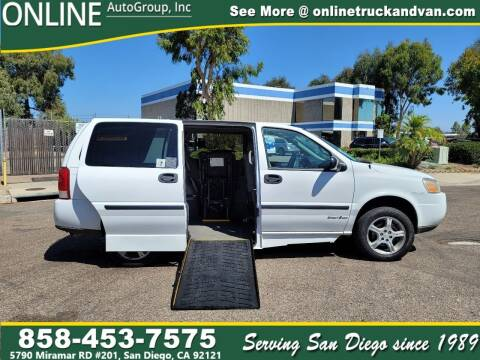 2008 Chevrolet Uplander for sale at Online Auto Group Inc in San Diego CA