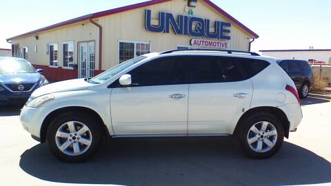 "2007 Nissan Murano for sale at UNIQUE AUTOMOTIVE ""BE UNIQUE"" in Garden City KS"