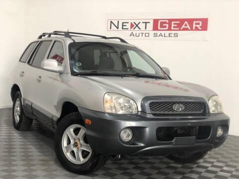 2004 Hyundai Santa Fe for sale at Next Gear Auto Sales in Westfield IN