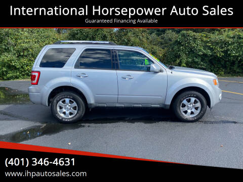 2012 Ford Escape for sale at International Horsepower Auto Sales in Warwick RI
