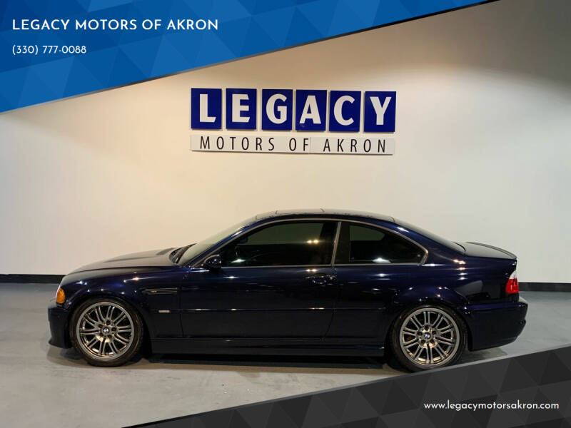 2001 BMW M3 for sale at LEGACY MOTORS OF AKRON in Akron OH