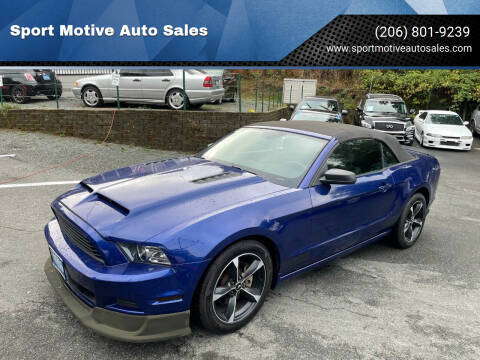 2013 Ford Mustang for sale at Sport Motive Auto Sales in Seattle WA
