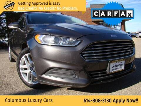 2016 Ford Fusion for sale at Columbus Luxury Cars in Columbus OH