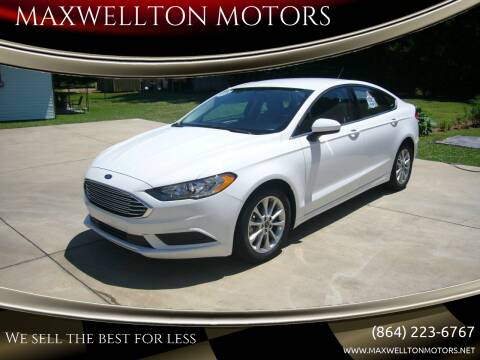 2017 Ford Fusion for sale at MAXWELLTON MOTORS in Greenwood SC