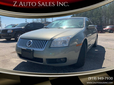 2008 Mercury Milan for sale at Z Auto Sales Inc. in Rocky Mount NC