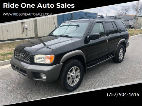 2000 Nissan Pathfinder for sale at Ride One Auto Sales in Norfolk VA