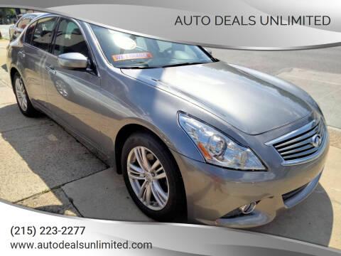 2010 Infiniti G37 Sedan for sale at AUTO DEALS UNLIMITED in Philadelphia PA