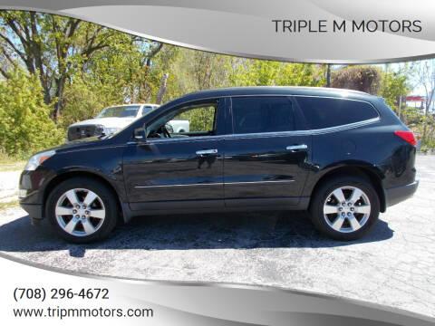 2012 Chevrolet Traverse for sale at Triple M Motors in Saint John IN