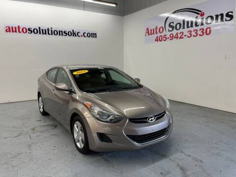 2013 Hyundai Elantra for sale at Auto Solutions in Warr Acres OK