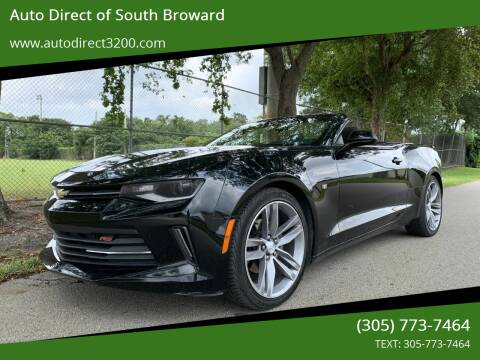 2018 Chevrolet Camaro for sale at Auto Direct of South Broward in Miramar FL