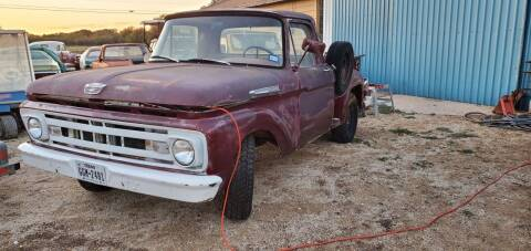 1961 Ford F-100 for sale at CLASSIC MOTOR SPORTS in Winters TX