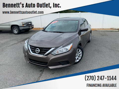 2016 Nissan Altima for sale at Bennett's Auto Outlet, Inc. in Mayfield KY