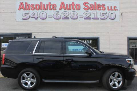 2015 Chevrolet Tahoe for sale at Absolute Auto Sales in Fredericksburg VA